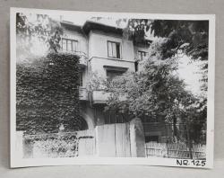 VILA DEMOLATA , STR. SEBASTIAN NR. 125 , BUCURESTI , FOTOGRAFIE MONOCROMA, PE HARTIE LUCIOASA , ANII  '70 - ' 80