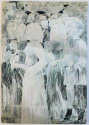VIRGIL ALMASANU - PICTURA , EXPOZITIE SALA DALLES , MARTIE- APRILIE , 1976 , DEDICATIE*