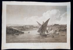 VUE DE L'ENTREE DE LA RADE ET DU PORT DE POLA , PULA , CROATIE , CROATIA - GRAVURA ORIGINALA, 1802