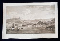 VUE DE PIRANO , ISTRIA , TRIESTE - GRAVURA ORIGINALA , 1802