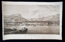 VUE GENERALE DE SPALATRO - GRAVURA ORIGINALA, 1802
