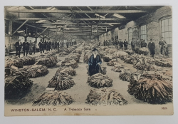 WINSTON-SALEM, A Tobacco Sale - CP Ilustrata monocroma