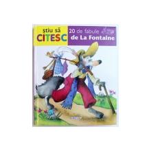 """20 DE FABULE  de  LA FONTAINE , COLECTIA """" STIU SA CITESC """" , ilustratii de MARIFE GONZALEZ , 2010"""