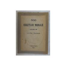 500 CUGETARI MORALE CULESE DE LT.-COL. RAMBELA , 1926