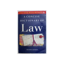 A CONCISE DICTIONARY OF LAW   by ELISABETH A. MARTIN , 1992