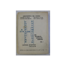 A II - A CONSFATUIRE DE ENTOMOLOGIE DIN REPUBLICA SOCIALISTA ROMANIA , VOLUMUL I , IUNIE , 1980