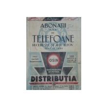 ABONATII TELEFOANE BUCURESTI SI JUD. ILFOV AUGUST 1938