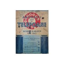 ABONATII TELEFOANE BUCURESTI SI JUD. ILFOV IULIE 1940
