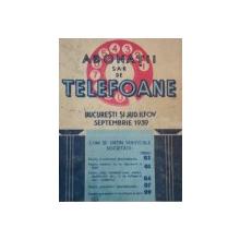 ABONATII TELEFOANE BUCURESTI SI JUD. ILFOV SEPTEMBRIE 1939