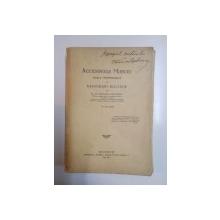 ACCIDENTELE MUNCEI. BOALE PROFESIONALE SI ASIGURARI SOCIALE de C. POENARU CAPLESCU  1934, CONTINE SEMNATURA  AUTORULUI