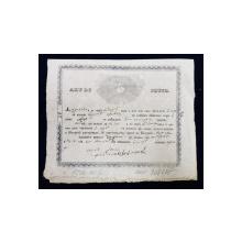 ACT DE BOTEZ , SCRIS IN LIMBA ROMANA CU CARACTERE CHIRILICE , DATAT 1850
