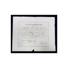 ACT DE PROMOTIUNE , ELIBERAT DE GIMNAZIUL TUDOR VLADIMIRESCU DIN BUZAU , ELEVULUI TITUS DEMETRESCU , EMIS LA 30 IUNIE 1883