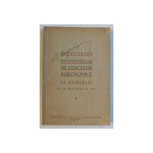 ACTIVITATEA INSTITUTULUI DE CERCETARI AGRONOMICE AL ROMANIEI DE LA 1928 PANA LA 1936 , 1937