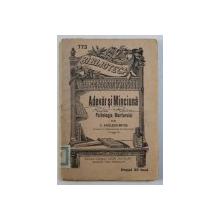 """ADEVAR SI MINCIUNA - PSIHOLOGIA MARTORULUI de C . RADULESCU - MOTRU , COLECTIA """" BIBLIOTECA PENTRU TOTI """" NR . 773 , EDITIE INTERBELICA"""