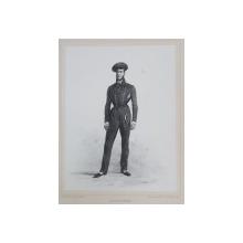 ADOLPHE DU PONCEAU , LITOGRAFIE DUPA UN DESEN de AUGUSTE RAFFET , MONOCROMA, DATATA 1848