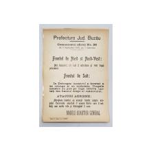 AFIS DIN TIMPUL PRIMULUI RAZBOI MONDIAL , 9 SEPTEMBRIE ,  1916