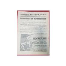 AFIS ELECTORAL INTERBELIC - PARTIDUL SOCIALIST UNITAR
