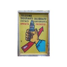 Afis protectia muncii perioada comunista