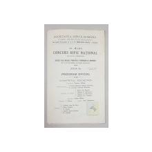 AL 4-LEA CONCURS HIPIC NATIONAL, PROGRAM OFICIAL - 1914