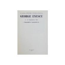 AL DOILEA CONCURS INTERNATIONAL GEORGE ENESCU  -CONCURENTII SI REPERTORIUL LOR - 5 -21 SEPTEMBRIE , 1961