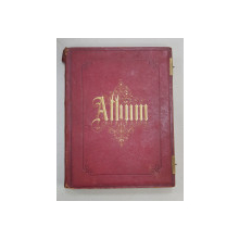 ALBUM DE LUX CU 30 DE FOTOGRAFII DUPA LUCRARI DE ARTA CELEBRE , FOTOGRAF ADOLPHE GOUPIL , MONOCROME , CIRCA 1860 , COTORUL DESPRINS PE INTERIOR *