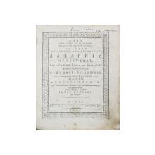 ALFAVITA SUFLETEASCA - SIBIU, 1803
