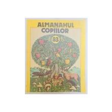 ALMANAHUL COPIILOR , ILUSTRATII , CARICATURI SI REPRODUCERI FOTO:VASILE OLAC...LIVIU MINECAN , 1983