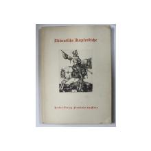 ALT DEUTSCHE KUPFERSTICHE ( GRAVURI VECHI GERMANE ) von PETER HALM , 62 ILUSTRATII , EDITIE INTERBELICA