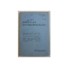 AMERICAN ANTHROPOLOGIST , VOLUME 70 , NUMBER 1 , FEBURARY 1968
