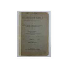 AMINTIRI DIN SCOALA - CORURI PENTRU DOUA SI TREI VOCI EGALE DE COPII SAU BARBATESTI  PENTRU UZUL SCOALELOR SECUNDARE  , CLASA II - A de MIHAIL D . RADESCU , 1912