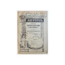 """AMVONUL  - ORGANUL SOCIETATEI CLERULUI ROMAN """" AJUTORUL """" DIN BUCURESTI , ANUL XIV , No. 1 , APRILIE 1911"""