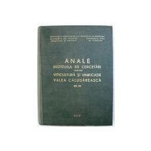 ANALE INSTITUTUL DE CERCETARI PENTRU VITICULTURA SI VINIFICATIE VALEA CALUGAREASCA, VOL. VIII , 1977
