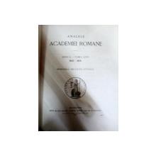 Analele academiei romane TOM XXVI  1903-1904   -BUC. 1904