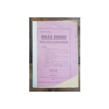 ANALELE DOBROGEI , REVISTA SOCIETATII CULTURALE DOBROGENE , DIRECTOR C. BRATESCU , ANUL I, NR. 1, 1921