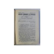 ANALELE ECONOMICE SI STATISTICE , REVISTA LUNARA , ANUL XXI , NUMERELE 1 - 3 , IANUARIE - MARTIE , 1938