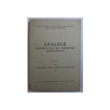 ANALELE INSTITUTULUI DE CERCETARI AGRONOMICE . VOL. XXVI - ANEXA : VITICULTURA , POMICULTURA SI LEGUMICULTURA , 1959