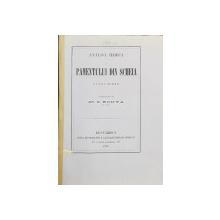 ANALISA HIMICA A PAMENTULUI DIN SCHEIA LANGA ROMAN , executatu de DR. S. KONYA IN IASI , 1878 , CONTINE DEDICATIA AUTORULUI CATRE DOMNUL DIMITRIE STURZA *