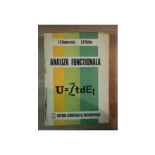 ANALIZA FUNCTIONALA de L.V. KANTOROVICI , G.P. AKILOV , 1986
