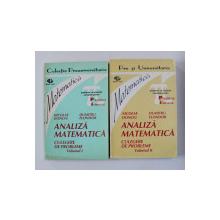 ANALIZA MATEMATICA , CULEGERE DE PROBLEME de NICOLAE DONCIU si DUMITRU FLONDOR , VOLUMELE I - II , 1993 - 1994