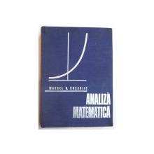 ANALIZA MATEMATICA de MARCEL ROSCULET , 1973