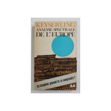 ANALYSE SPECTRALE DE L 'EUROPE par KEYSERLING , 1965