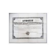 ANDREI BARONU DE SAGUNA , GRAMATA ARHIEREASCA  SEMNATA SI COMPLETATA  OLOGRAF , OCT. 1867