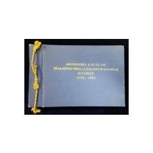 """ANIVERAREA A 50 DE ANI DE LA ABSOLVIREA LICULUI """"MATEI BASARAB"""", BUCURESTI, 1933-1983"""