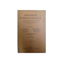 ANNALES D ' OCULISTIQUE ,  par MORAX..BAILLIART , FEVRIER 1934