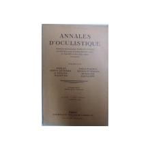 ANNALES D ' OCULISTIQUE ,  par MORAX..BAILLIART , JANVIER 1934