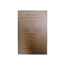 ANNALES D ' OCULISTIQUE ,  par MORAX..BAILLIART , MAI 1934