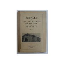 ANNALES DE L ' INSTITUT NATIONAL ZOOTECHNIQUE DE ROUMANIE , TOME I , 1932