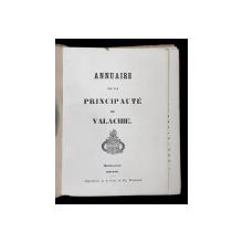 ANUARUL PRINCIPATULUI VALAHIEI , BUCURESTI , 1842