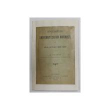 ANUARUL UNIVERSITATII DIN BUCURESTI PE ANUL SCOLAR 1896 - 1897 , AL V - LEA ANUAR PUBLICAT DE SECRETARIATUL UNIVERSITATII , 1897 , LEGATURA REFACUTA , LIPSA COPERTA ORIGINALA