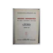 ANUARUL UNIVERSITATII MIHAILENE IASI 1937/38-IOAN TANASESCU  VOL 23  1939